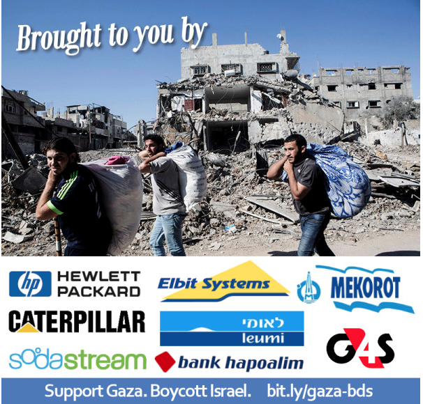Global boykot af 7 virksomheder der er medansvarlige for Israels besættelse