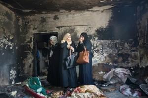 Billede fra brandattentatet hvor 4 årig pige indebrændte