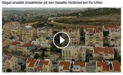 Illegal israelsk bosættelse på den besatte Vestbred set fra luften